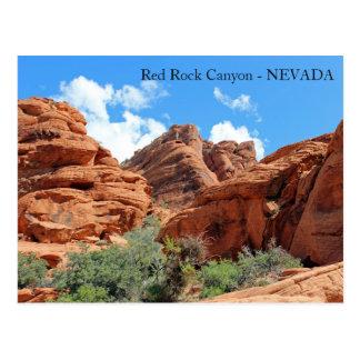美しく赤い石渓谷の郵便はがき! ポストカード