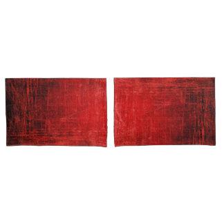 美しく赤い組の枕カバー! 枕カバー