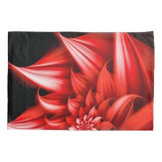美しく赤い花のエアブラシの芸術 枕カバー