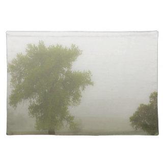 美しく霧深い国の春の朝 ランチョンマット