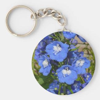美しく青いヒエンソウの花 キーホルダー