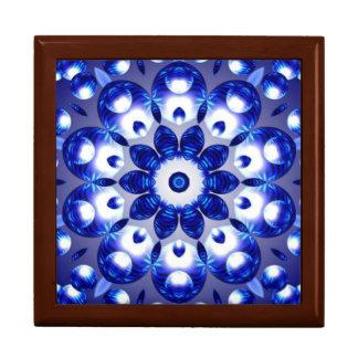 美しく青いプリズム効果の記念品箱 ギフトボックス