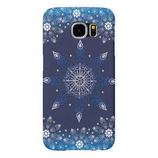 美しく青い冬のデザイン SAMSUNG GALAXY S6 ケース