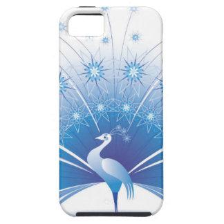 美しく青い孔雀のデザイン iPhone SE/5/5s ケース