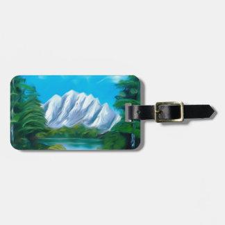 美しく青い湖の夢みるような蜃気楼 ラゲッジタグ