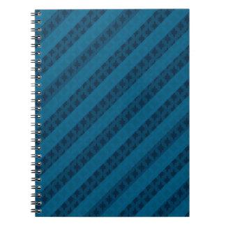 美しく青い縞-カスタム ノートブック