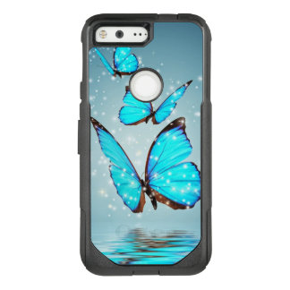 美しく青い蝶 オッターボックスコミューターGoogle PIXEL ケース