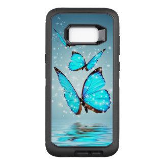 美しく青い蝶 オッターボックスディフェンダーSamsung GALAXY S8+ ケース