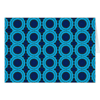 美しく青く幾何学的な抽象デザイン カード