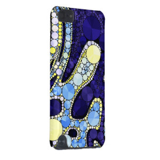 美しく青く黄色くきらきら光るな抽象芸術 iPod TOUCH 5G ケース