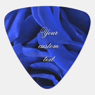 美しく鮮やかで青いビロードのバラの花柄の写真 ギターピック
