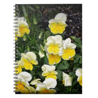 美しく黄色いパンジー ノートブック