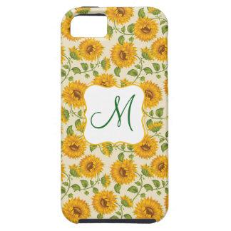 美しく黄色い夏のヒマワリパターン iPhone SE/5/5s ケース