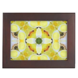 美しく黄色い白の抽象芸術 宝石箱