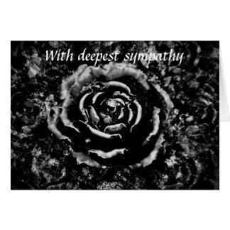 美しく黒い墓地のバラのゴシック様式悔やみや弔慰カード カード