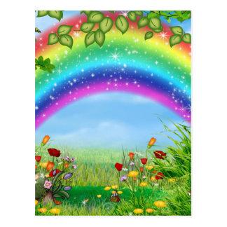 美しく、多彩な虹はプロダクトを設計しました ポストカード