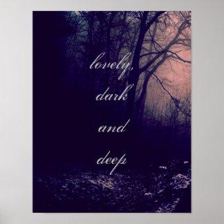 美しく、暗闇深い ポスター