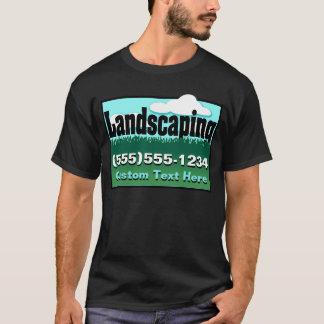 美化。 芝生の心配。 ビジネスを広告して下さい。 前部 Tシャツ