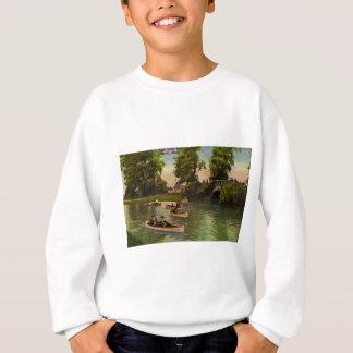 美女の島、デトロイト、ミシガン州ヴィンテージの橋 スウェットシャツ