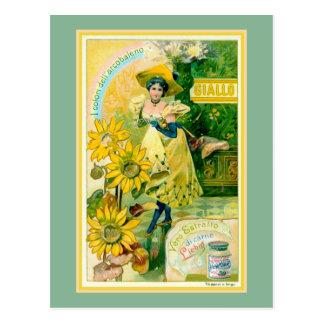 美女の新紀元イタリアンな肉エキスの広告 ポストカード