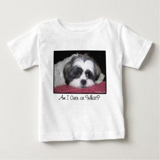 美女シーズー(犬)のTzu犬 ベビーTシャツ