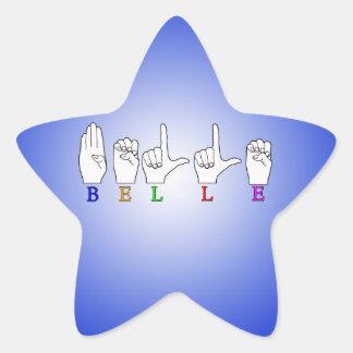 美女一流ASL FINGERSPELLED 星シール
