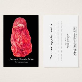 美容師のアポイントメントカード チャビ―名刺