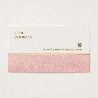 美容師のエレガントな淡いピンクのスパおよびサロン 名刺