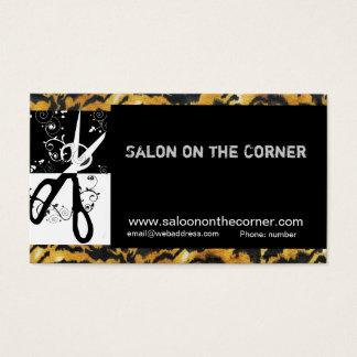 美容師の美容院の野生のはさみ 名刺