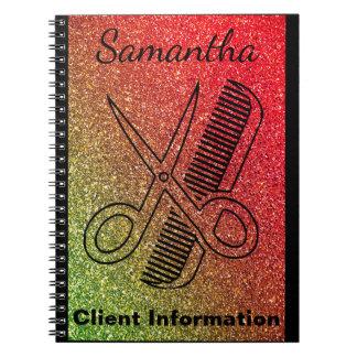 美容院のスタイリストのカラーリストのサロンの顧客情報 ノートブック