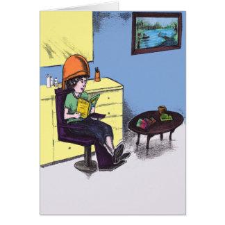 美容院の乾燥毛 グリーティングカード
