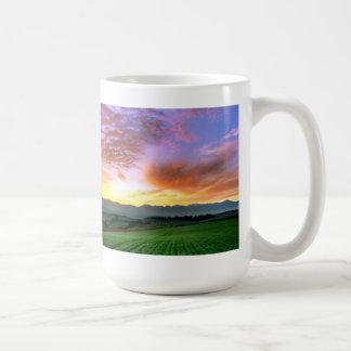 美瑛 秋 朝焼け 北海道 コーヒーマグカップ
