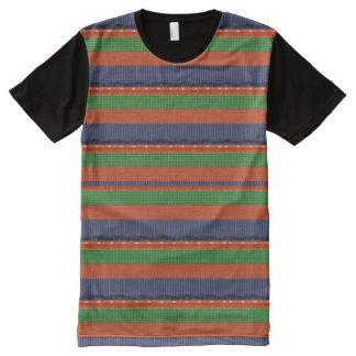 美術のグラフィックのカラフルパターン オールオーバープリントT シャツ