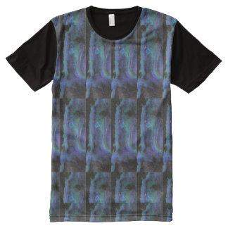 美術のグラフィックアートはnパターン石を織ります オールオーバープリントT シャツ