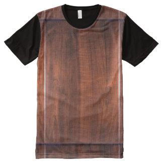 美術のグラフィック木製色nの終わりのデザイン オールオーバープリントT シャツ