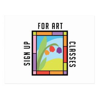 美術教室 ポストカード