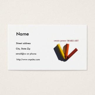 美術教師の個人事業カードテンプレート 名刺