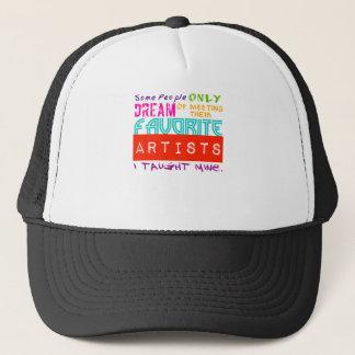 美術教師のTシャツ何人かの人々大会の夢だけ キャップ