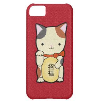 美香の芸術による幸運猫のルーシー猫の電話箱 iPhone5Cケース