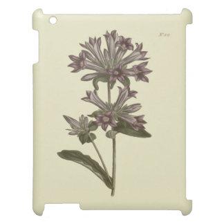 群がらせたホタルブクロの植物の絵 iPad CASE