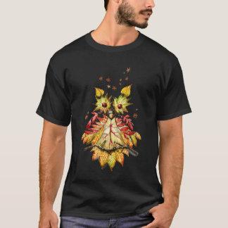 群葉のフクロウ Tシャツ