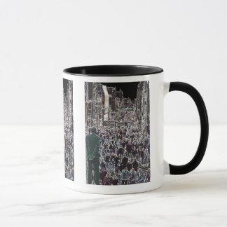 群集のグラスゴースコットランドのマグの顔 マグカップ