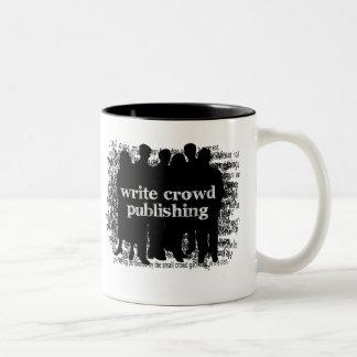 群集の出版のマグを書いて下さい ツートーンマグカップ