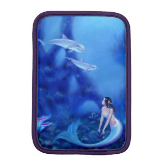 群青色のイルカ及び人魚の芸術のiPad Miniスリーブ iPad Miniスリーブ