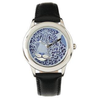 群青色のジャガーの腕時計 腕時計