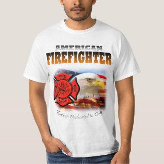 義務に捧げられるアメリカの消防士 Tシャツ