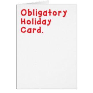 義務の休日カード カード