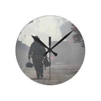義務は時計のあたりで呼びます ラウンド壁時計
