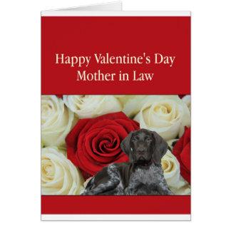 義母の光沢のあるハイイログマのバレンタインの初恋 カード