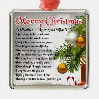 義母の詩-クリスマスのデザイン メタルオーナメント